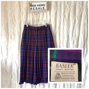 FINAL $ BASLER HORST VINTAGE MADRAS PLAID SKIRT